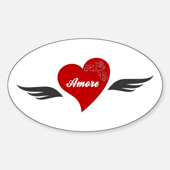 Amore Winged Heart Vinyl Decal