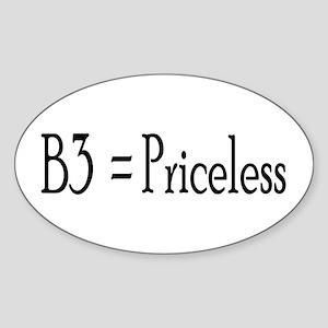 B3 = Priceless Oval Sticker