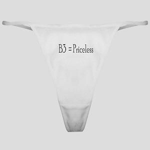 B3 = Priceless Classic Thong