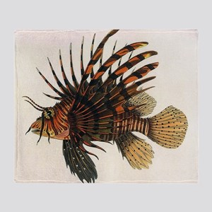 Vintage Lionfish Throw Blanket