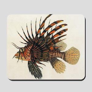 Vintage Lionfish Mousepad