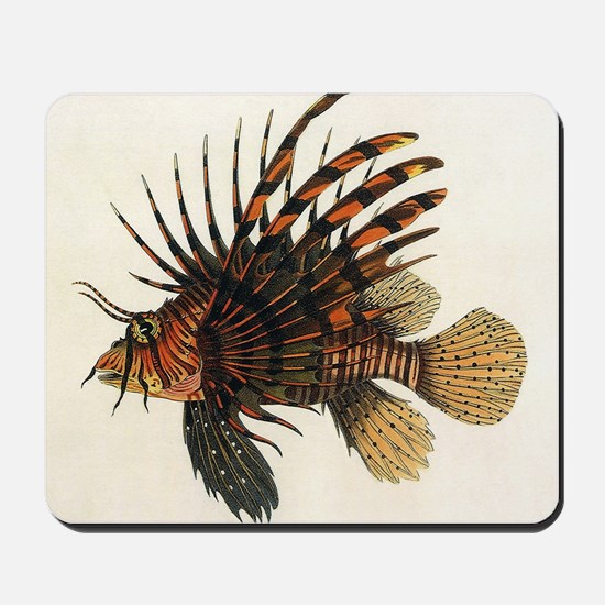 Vintage Lionfish Mousepad