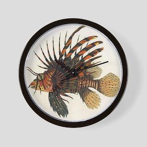 Vintage Lionfish Wall Clock