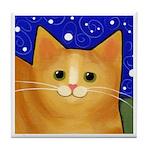 Big Orange Tabby CAT ART Tile