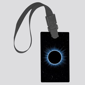 Solar Eclipse Large Luggage Tag