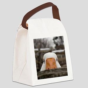 Peeking Goose Canvas Lunch Bag