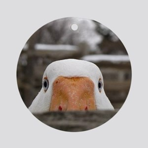 Peeking Goose Round Ornament