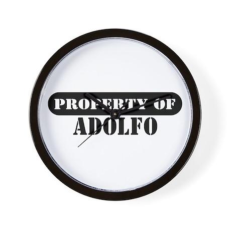 Property of Adolfo Wall Clock