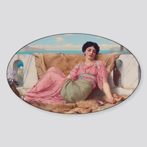 The Quiet Pet by John William Godwa Sticker (Oval)
