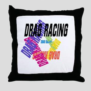 Drag Racing Throw Pillow