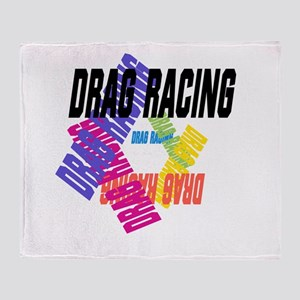 Drag Racing Throw Blanket