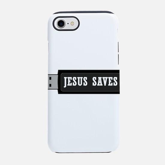 Jesus Saves USB iPhone 7 Tough Case