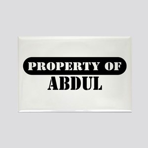 Property of Abdul Rectangle Magnet