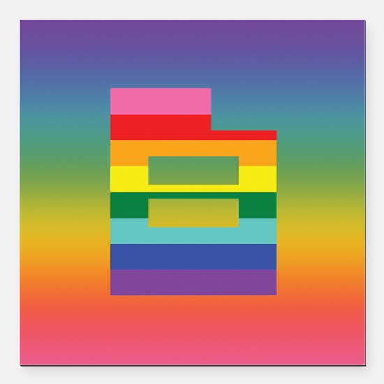Utah equality double rainbow Square Car Magnet 3&a