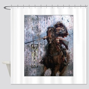 Ronin Rider Shower Curtain