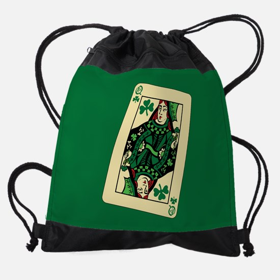 queen-shamrocks_8x12.png Drawstring Bag