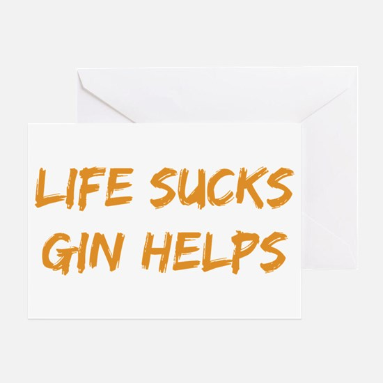 Life Sucks Gin Helps Greeting Cards