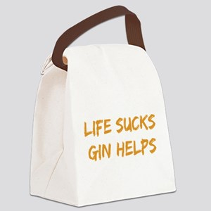 Life Sucks Gin Helps Canvas Lunch Bag