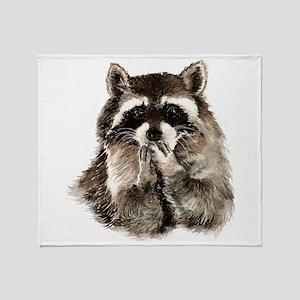 Cute Humorous Watercolor Raccoon Blowing a Kiss Th