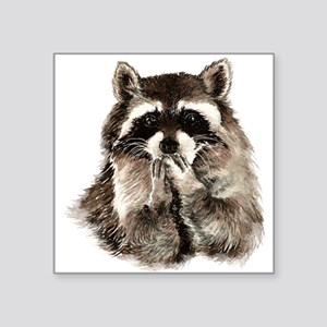 Cute Humorous Watercolor Raccoon Blowing a Kiss St