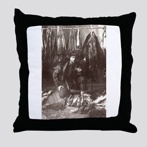 1919 Trapper Throw Pillow