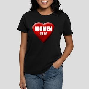 Women 25-54 Women's Dark T-Shirt