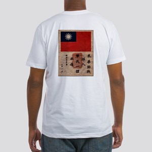 """Flying Tigers """"Blood Chit""""  Fitted T-Shirt"""