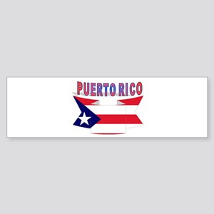 Puerto Rico Flag ribbon Bumper Sticker