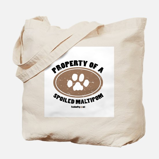 Maltipom dog Tote Bag