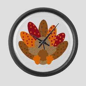 Precious Baby Turkey Large Wall Clock