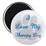 Love My Therapy Dog Magnet