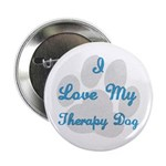 Love My Therapy Dog Button