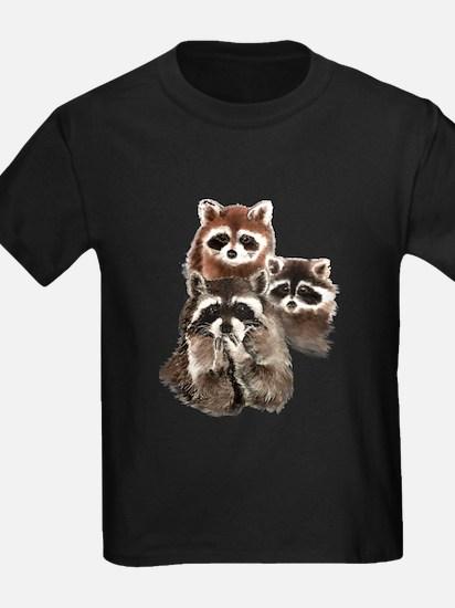Cute Watercolor Raccoon Animal Family T-Shirt