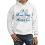 Love My Therapy Dog Hooded Sweatshirt