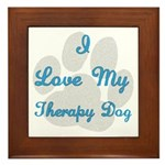 Love My Therapy Dog Framed Tile