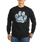 Love My Therapy Dog Long Sleeve Dark T-Shirt