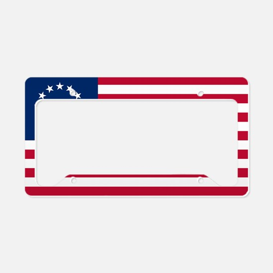 The Tea Party Flag License Plate Holder