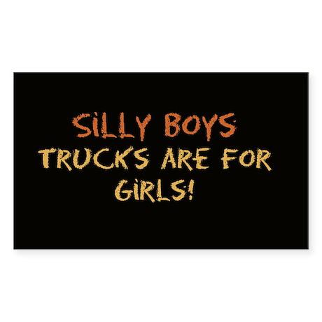 Trucks are for Girls Sticker (Rect.)