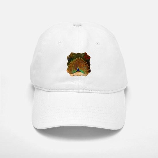 Golden Peacock Baseball Baseball Cap