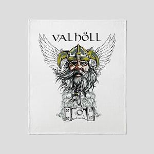 Valhöll Viking Warrior Throw Blanket