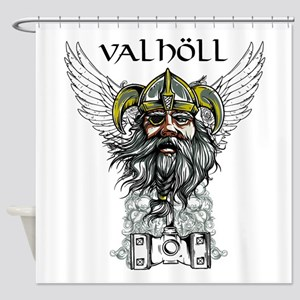Valhöll Viking Warrior Shower Curtain
