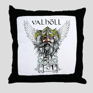 Valhöll Viking Warrior Throw Pillow