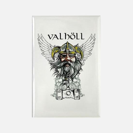 Valhöll Viking Warrior Rectangle Magnet