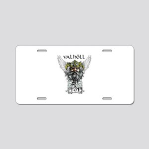 Valhöll Viking Warrior Aluminum License Plate