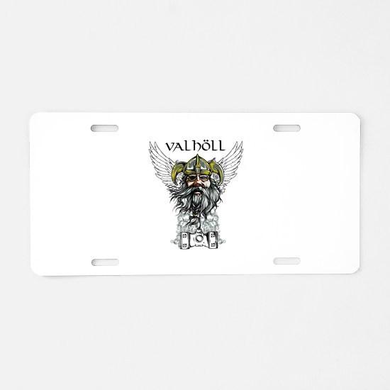 Valhöll Viking Warrior Aluminum License Plate