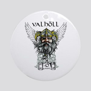 Valhöll Viking Warrior Ornament (Round)