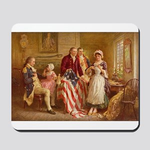 Betsy Ross Designing The Tea Party Flag Mousepad