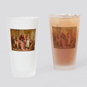 Betsy Ross Designing The Tea Party Flag Drinking G