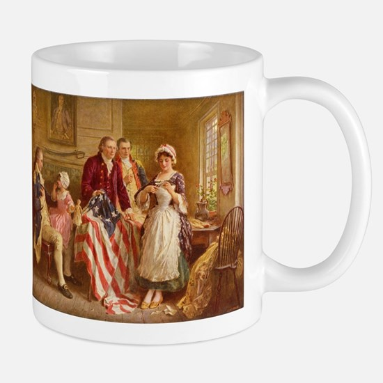 Betsy Ross Designing The Tea Party Flag Mugs