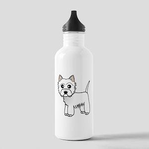 Cute Westie Dog Water Bottle